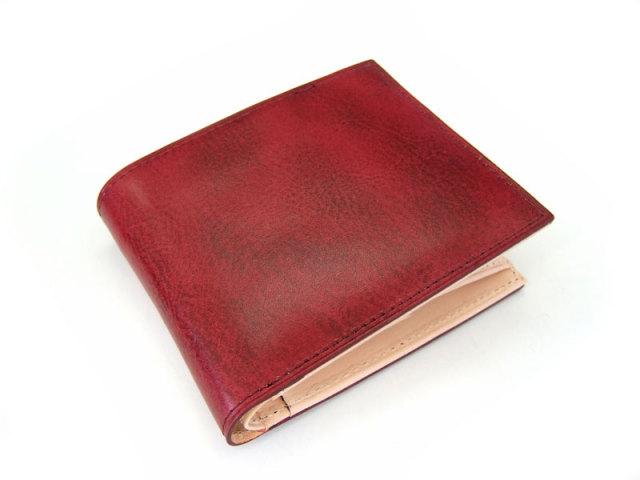 Patine(パティーヌ) 二つ折り財布(小銭入れあり) 「プレリーギンザ」 NP76220 ワイン 正面
