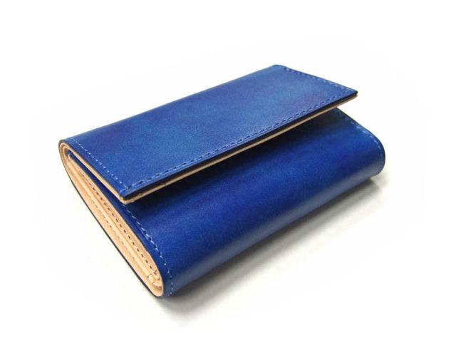 Patine(パティーヌ) 三つ折り財布(コンパクト財布) 「プレリーギンザ」 NP76316 ブルー 正面
