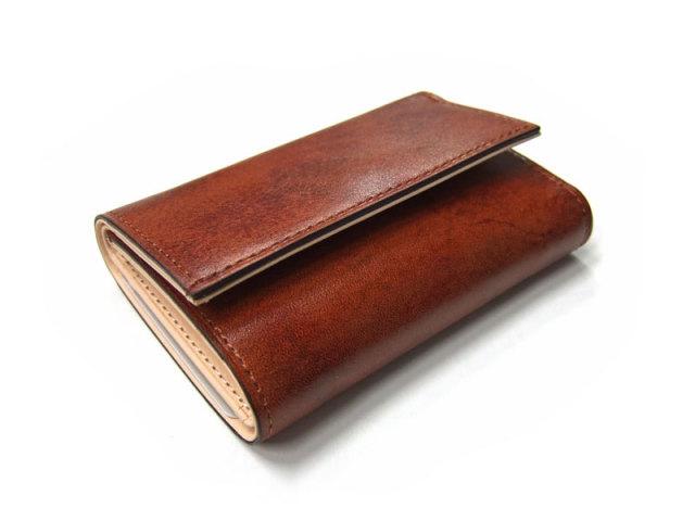 Patine(パティーヌ) 三つ折り財布(コンパクト財布) 「プレリーギンザ」 NP76316 チャ 正面