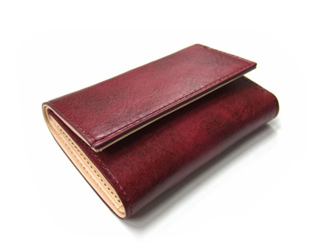 Patine(パティーヌ) 三つ折り財布(コンパクト財布) 「プレリーギンザ」 NP76316 ワイン 正面