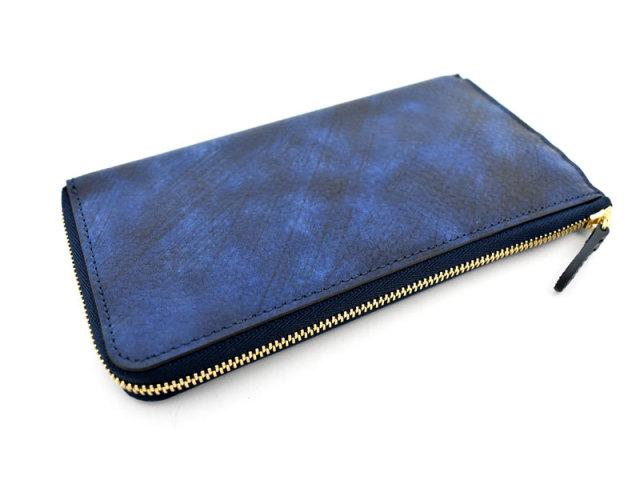 Patine2(パティーヌ2) L字ファスナー長財布 「プレリーギンザ」 NP78020 ブルー 正面