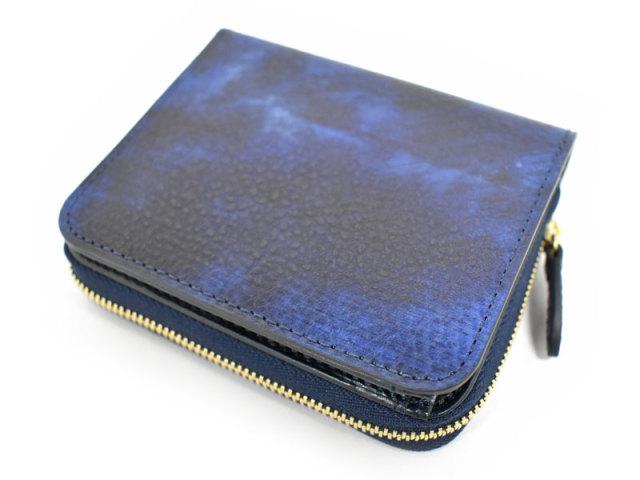 Patine2(パティーヌ2) ラウンドファスナー二つ折り財布 「プレリーギンザ」 NP78220 ブルー 正面