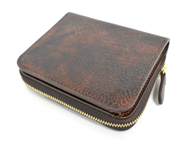 Patine2(パティーヌ2) ラウンドファスナー二つ折り財布 「プレリーギンザ」 NP78220 チョコ 正面