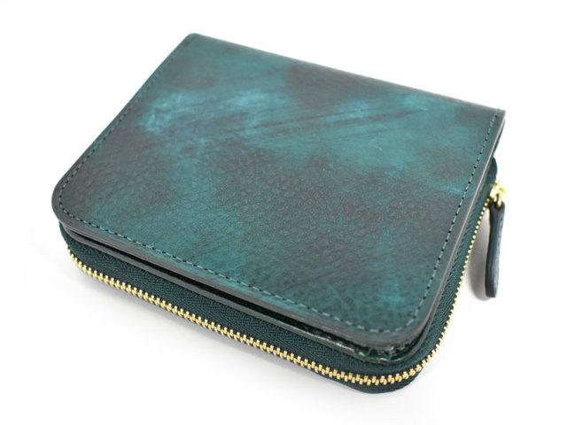 Patine2(パティーヌ2) ラウンドファスナー二つ折り財布 「プレリーギンザ」 NP78220 グリーン 正面