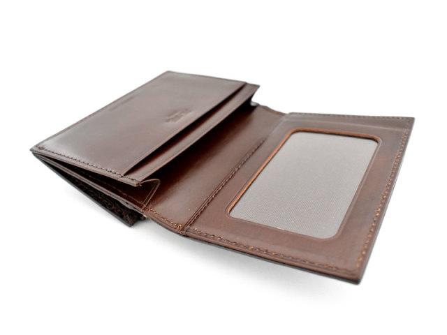 Patine2(パティーヌ2) コンパクト二つ折り財布 「プレリーギンザ」 NP78312 チョコ 内作り