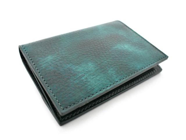 Patine2(パティーヌ2) コンパクト二つ折り財布 「プレリーギンザ」 NP78312 グリーン 正面