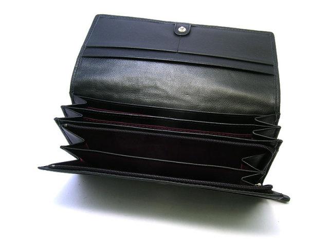印伝 トンボ柄 長財布(小銭入れあり) 「ル・プレリー 」  NPE5013 クロ/アカ 特徴