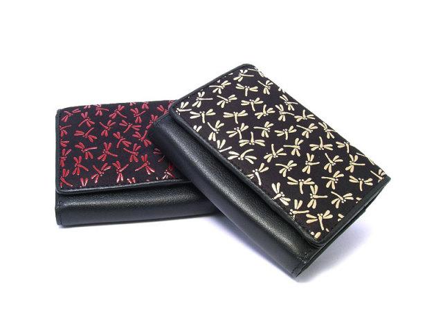印伝 トンボ柄 二つ折り財布(小銭入れあり) 「ル・プレリー 」  NPE5210 イメージ画像