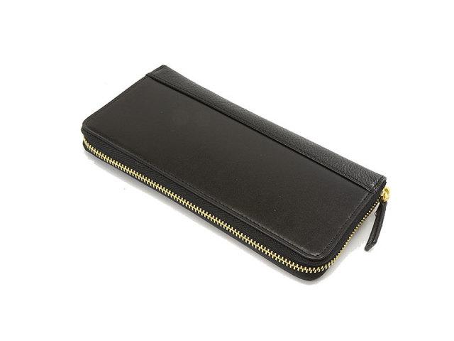 NPF6013 Favor(フェイバー)  ラウンドファスナー長財布 「プレリートラディッショナルファクトリー」 ブラック 正面