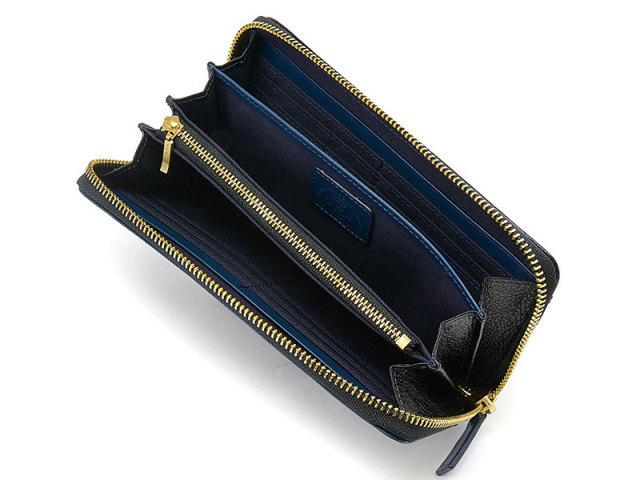 NPF6013 Favor(フェイバー)  ラウンドファスナー長財布 「プレリートラディッショナルファクトリー」 ブルー 内作り