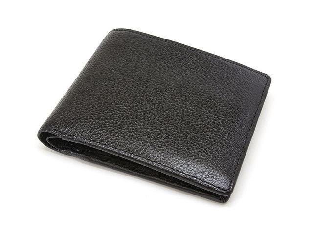 NPF6110 Favor(フェイバー)  二つ折り財布(小銭入れあり) 「プレリートラディッショナルファクトリー」 ブラック 正面