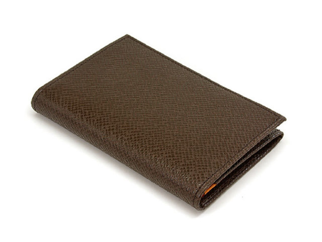 Stone(ストーン)  名刺入れ 「プレリートラディショナルファクトリー」 NPF2275 チョコ 正面