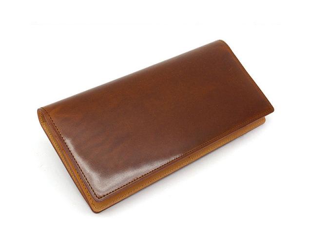 JUWEL Cordovan(ジュエルコードバン)  長財布 「プレリーギンザ」 NPJ1042 チョコ 正面