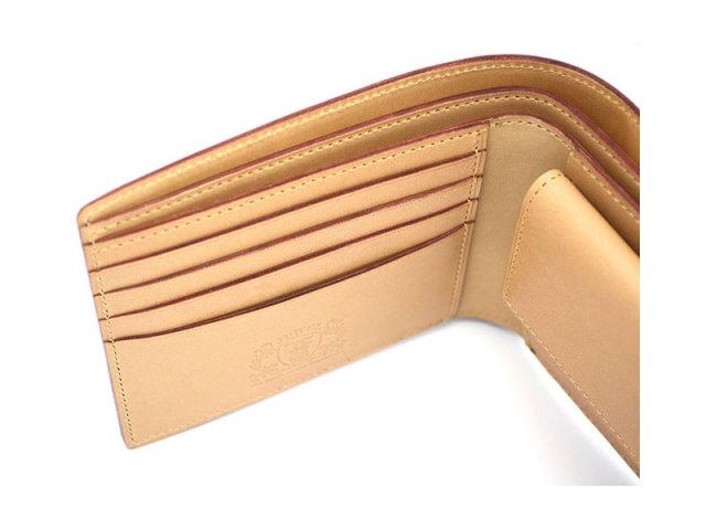 JUWEL Cordovan(ジュエルコードバン)  二つ折り財布(小銭入れあり) 「プレリーギンザ」 NPJ1135 チョコ 特徴