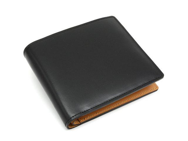 JUWEL Cordovan(ジュエルコードバン)  二つ折り財布(小銭入れなし) 「プレリーギンザ」 NPJ1233 クロ 正面