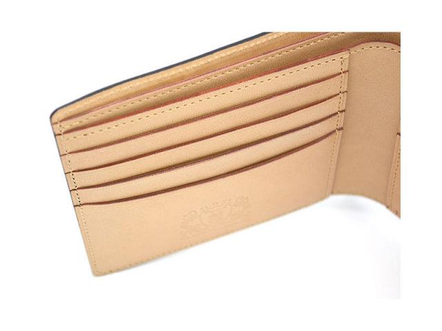 JUWEL Cordovan(ジュエルコードバン)  二つ折り財布(小銭入れなし) 「プレリーギンザ」 NPJ1233 クロ 特徴