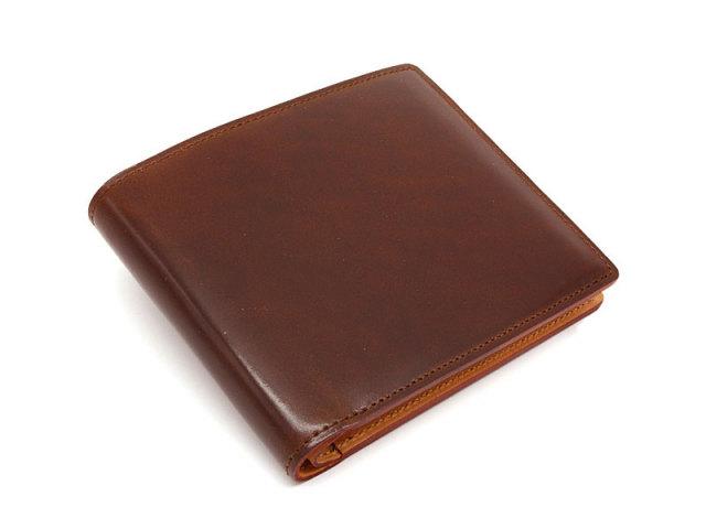 JUWEL Cordovan(ジュエルコードバン)  二つ折り財布(小銭入れなし) 「プレリーギンザ」 NPJ1233 チョコ 正面