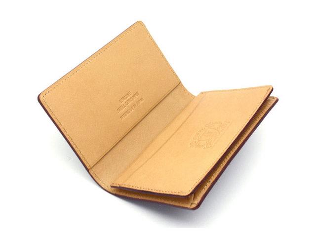 JUWEL Cordovan(ジュエルコードバン)  名刺入れ 「プレリーギンザ」 NPJ1322 チョコ 内作り