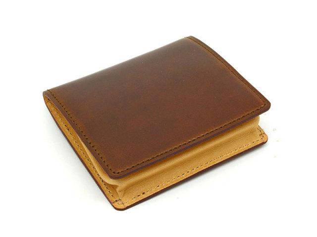 JUWEL Cordovan(ジュエルコードバン)  ボックス小銭入れ 「プレリーギンザ」 NPJ1418 チョコ 正面