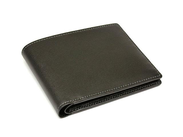 JUWEL Lamb (ジュエル ラム) 二つ折り財布(小銭入れなし) 「ジュエル」 NPJ3317 クロ 正面