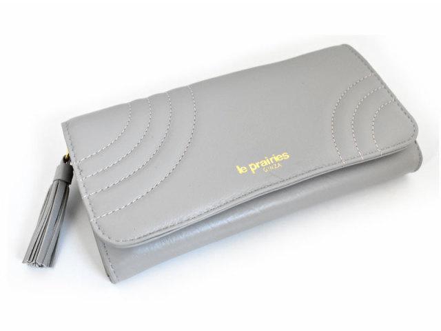 Minamo(ミナモ) 長財布 「ル・プレリーギンザ 」 NPL0112 グレー 正面
