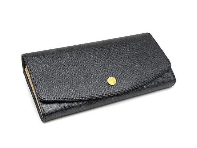 Bijue(ビジュー) 長財布(小銭入れあり) 「ル・プレリー 」 NPL1013 クロ 正面