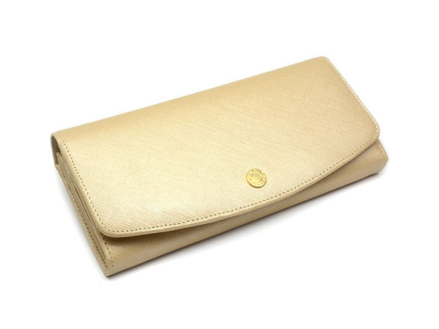Bijue(ビジュー) 長財布(小銭入れあり) 「ル・プレリー 」 NPL1013 ベージュ 正面