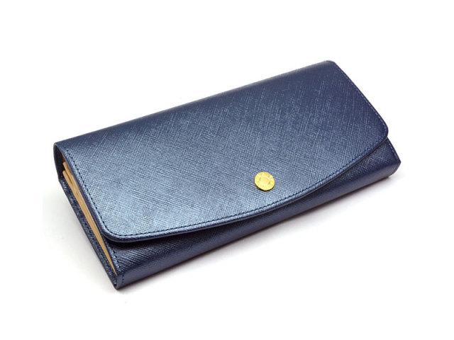 Bijue(ビジュー) 長財布(小銭入れあり) 「ル・プレリー 」 NPL1013 ネイビー 正面