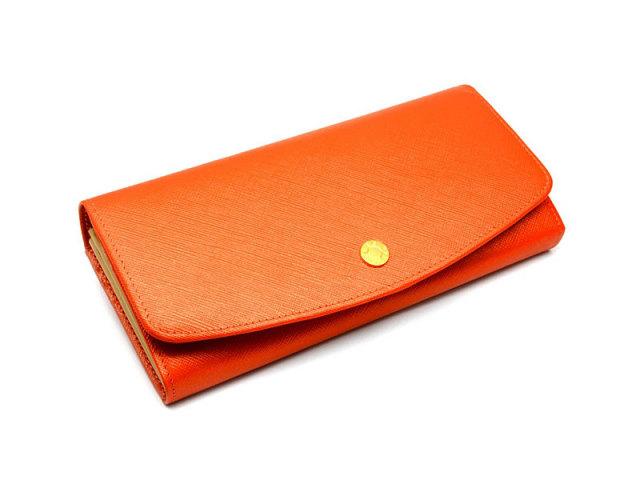 Bijue(ビジュー) 長財布(小銭入れあり) 「ル・プレリー 」 NPL1013 オレンジ 正面