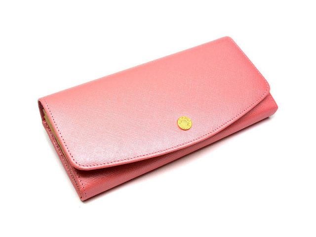Bijue(ビジュー) 長財布(小銭入れあり) 「ル・プレリー 」 NPL1013 ピンク 正面