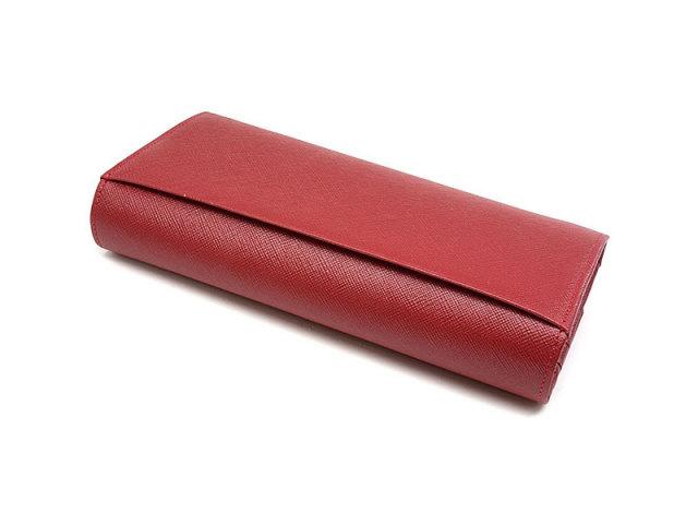 Bijue(ビジュー) 長財布(小銭入れあり) 「ル・プレリー 」 NPL1013 アカ 裏面