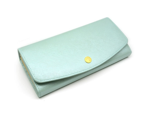 Bijue(ビジュー) 長財布(小銭入れあり) 「ル・プレリー 」 NPL1013 サックス 正面
