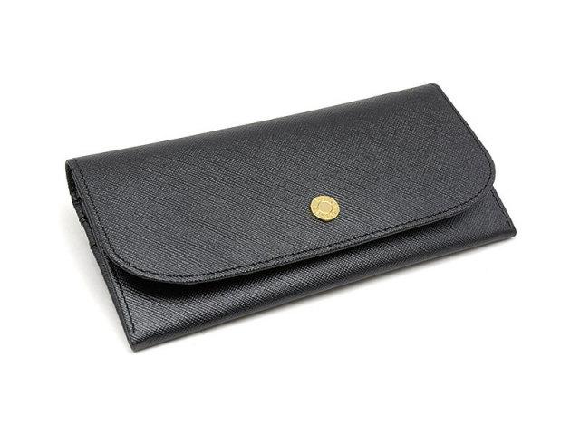 Bijue(ビジュー) コンパクト長財布(小銭入れあり) 「ル・プレリー 」 NPL1195 クロ 正面