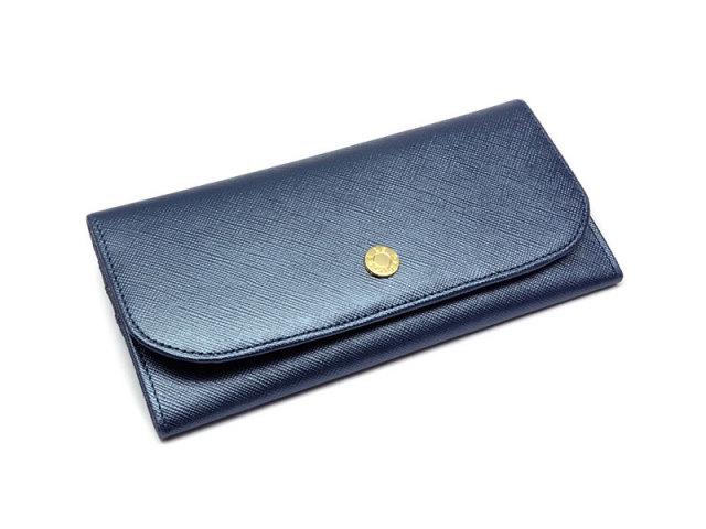 Bijue(ビジュー) コンパクト長財布(小銭入れあり) 「ル・プレリー 」 NPL1195 ネイビー 正面