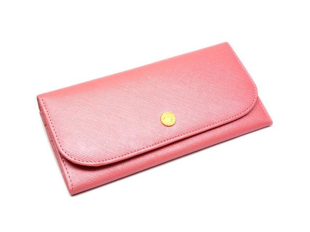 Bijue(ビジュー) コンパクト長財布(小銭入れあり) 「ル・プレリー 」 NPL1195 ピンク 正面