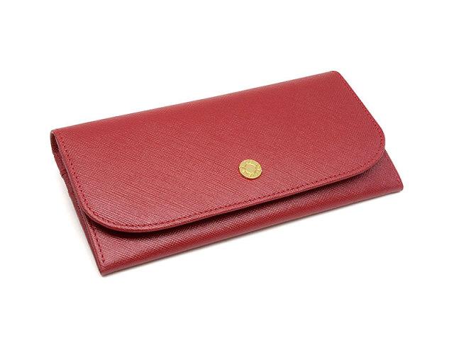Bijue(ビジュー) コンパクト長財布(小銭入れあり) 「ル・プレリー 」 NPL1195 アカ 正面