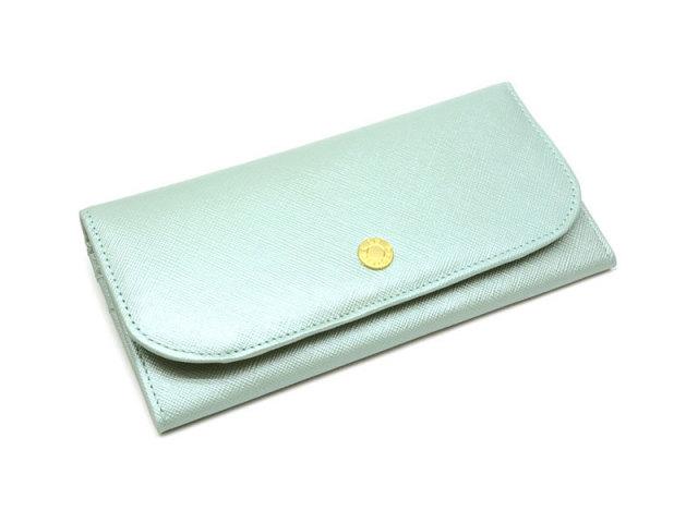 Bijue(ビジュー) コンパクト長財布(小銭入れあり) 「ル・プレリー 」 NPL1195 サックス 正面
