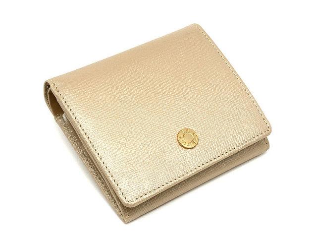Bijue(ビジュー) 二つ折り財布(小銭入れあり) 「ル・プレリー 」 NPL1280 ベージュ 正面