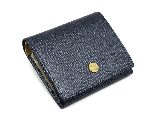 Bijue(ビジュー) 二つ折り財布(小銭入れあり) 「ル・プレリー 」 NPL1280 ネイビー 正面