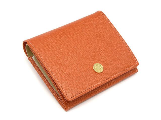 Bijue(ビジュー) 二つ折り財布(小銭入れあり) 「ル・プレリー 」 NPL1280 オレンジ 正面