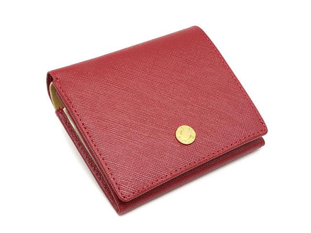 Bijue(ビジュー) 二つ折り財布(小銭入れあり) 「ル・プレリー 」 NPL1280 アカ 正面