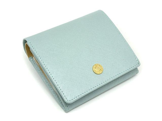 Bijue(ビジュー) 二つ折り財布(小銭入れあり) 「ル・プレリー 」 NPL1280 サックス 正面