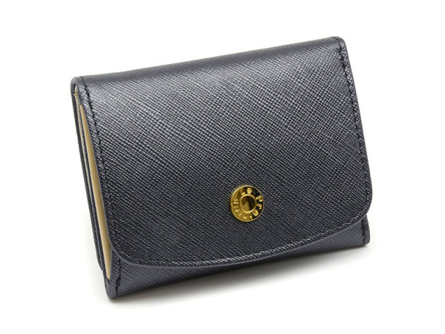 NPL1385 Bijue(ビジュー) 三つ折り財布(小銭入れあり) 「ル・プレリー 」  ベージュ 正面