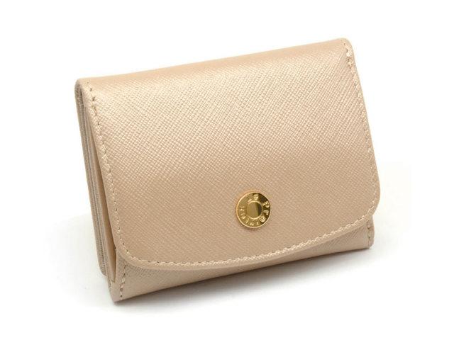 NPL1385 Bijue(ビジュー) 三つ折り財布(小銭入れあり) 「ル・プレリー 」  クロ 正面