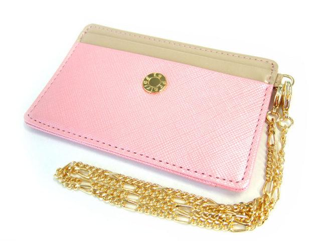 Bijue(ビジュー) パスケース(チェーン付き) 「ル・プレリー 」 NPL1545  ピンク 正面