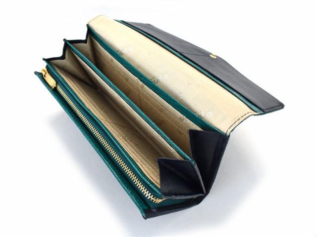 Fascino(ファッシノ) 長財布 「ル・プレリーギンザ 」 NPL3015 グリーン 内作り
