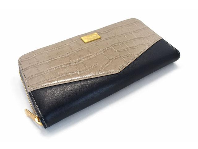 Fascino(ファッシノ) L字ファスナー長財布 「ル・プレリーギンザ 」 NPL3114 グレー 正面