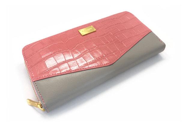 Fascino(ファッシノ) L字ファスナー長財布 「ル・プレリーギンザ 」 NPL3114 ピンク 正面