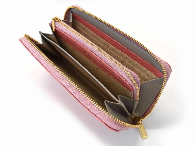 Fascino(ファッシノ) L字ファスナー長財布 「ル・プレリーギンザ 」 NPL3114 ピンク 内作り