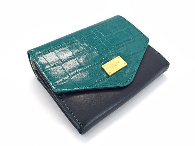 Fascino(ファッシノ) 二つ折り財布(小銭入れあり) 「ル・プレリーギンザ 」 NPL3213 グリーン 正面